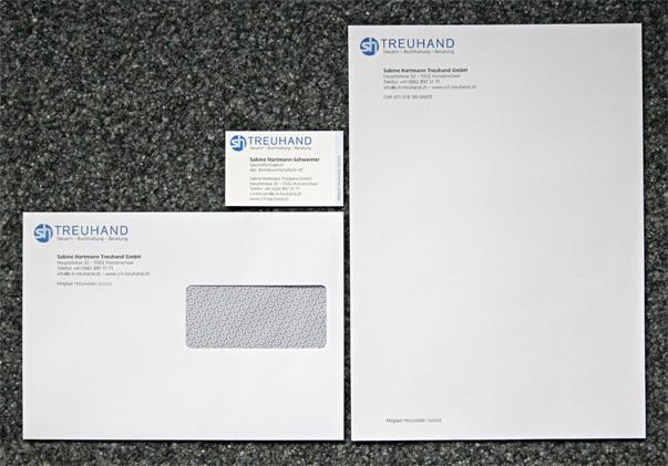 Logo, Webseite und Briefschaften