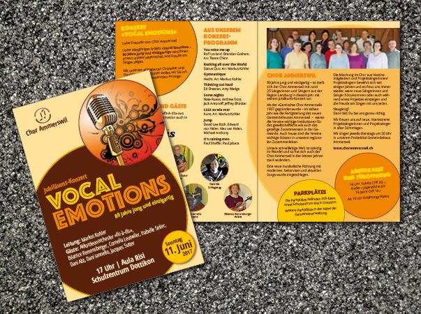 Konzertflyer «Vocal Emotions»