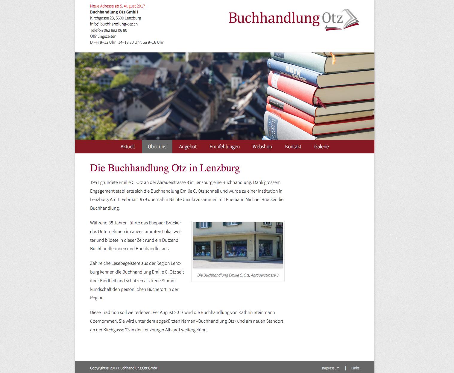 Buchhandlung Otz, Lenzburg